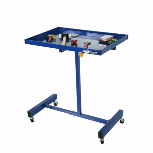 Technician Large Surface Rolling Tool Tray Cart Adjustable H