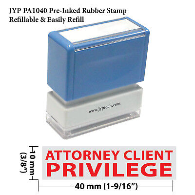 Jyp Pa1040 Pre-inked Rubber Stamp W. Attorney Client Privilege
