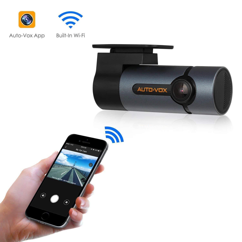 Upgraded AUTO-VOX D6 Pro 1080P Car DVR WiFi Dash Cam Video R