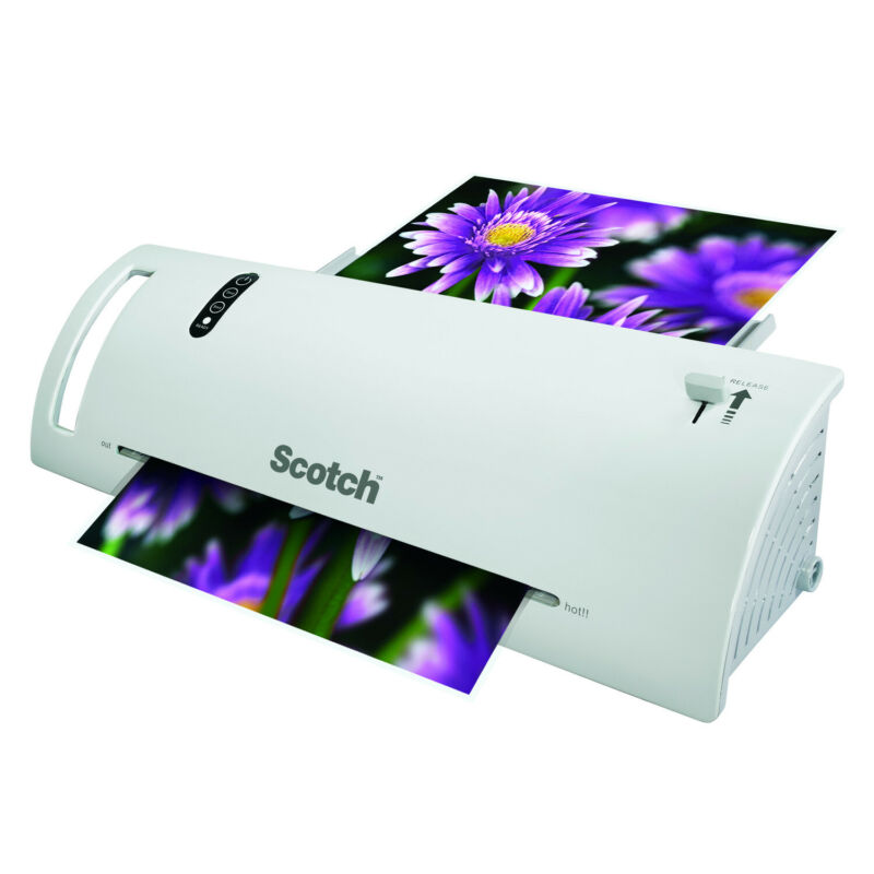 Scotch Thermal Laminator Laminating Machine 2 Roller System Fast WarmsUp 3-5 Mil