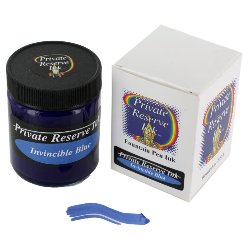 Private Reserve Ink Fountain Pen Bottled Ink, 50ml, Invincible Blue