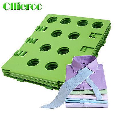 Ollieroo  Adult T-Shirt Clothes Flip & Fold Folder Board Laundry Organizer Green