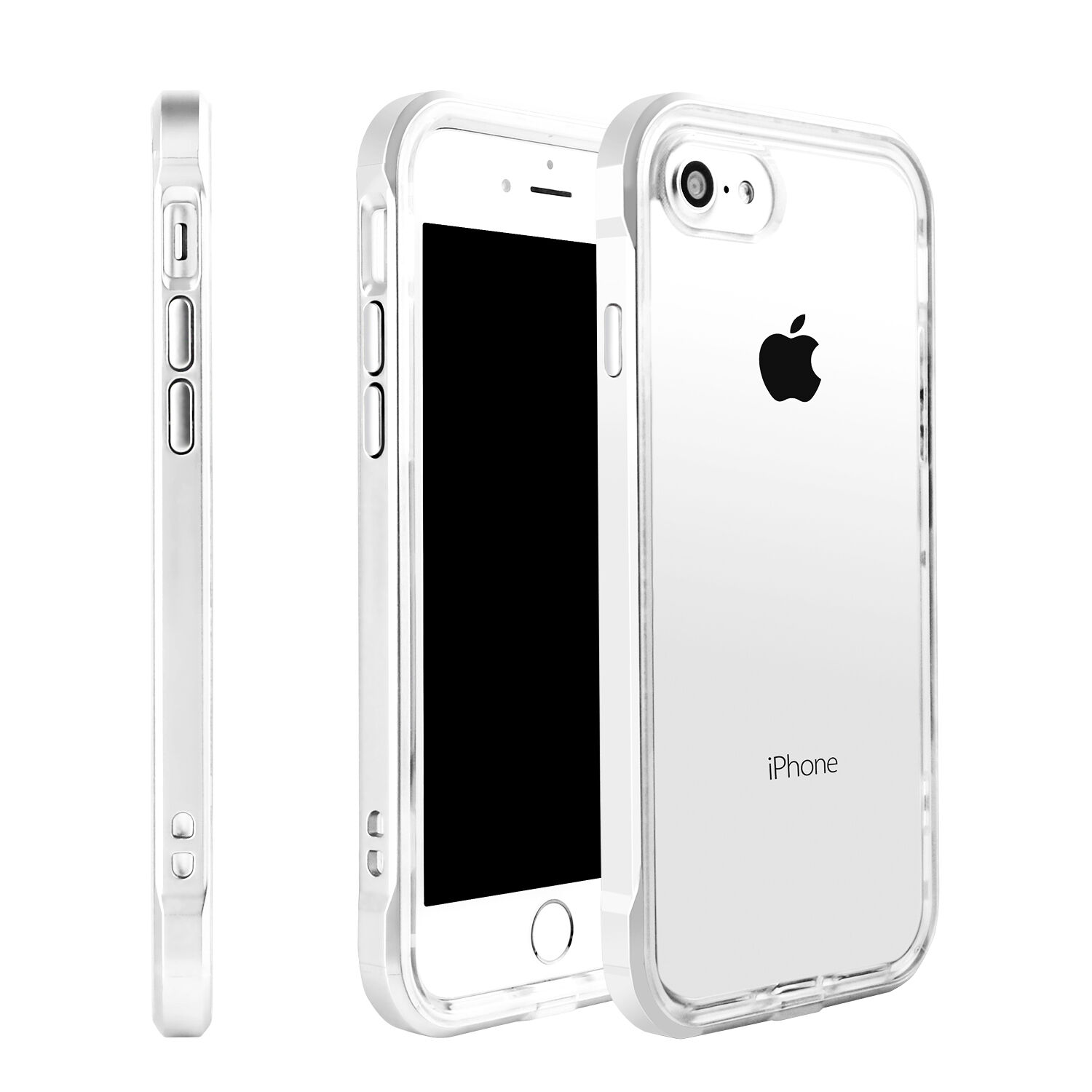 Hybrid Clear Back Shockproof TPU Case Cover for Apple iPhone 5 6 6s 7 8 Plus