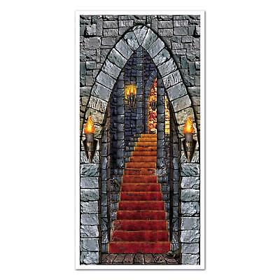 Castle Entrance Door Cover Halloween Wall Decoration 30