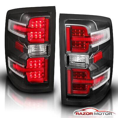 2014-2018 Chevy Silverado 1500 2500 3500 Red LED Brake Tail Lights