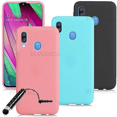 For Samsung Galaxy A40 A70 A20e A10 J4+ Phone Protector Silicone Gel Case Cover  - Silicon Protector Case