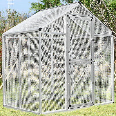 Large Pet Bird Cage Small Mesh Heavy Duty Parrot Cockatoo Walk-In Flight Aviary