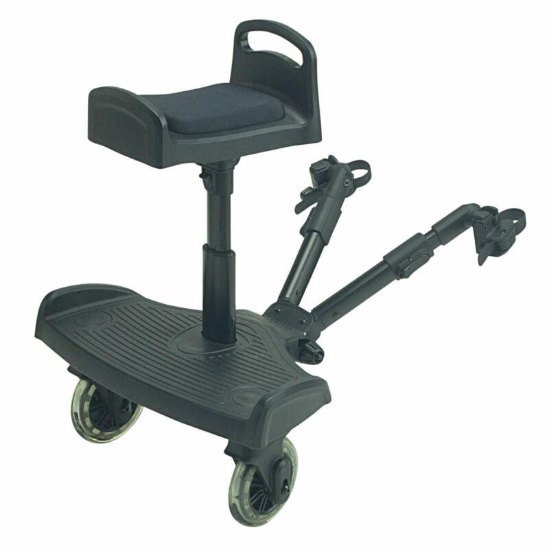 Ride On Buggy Board with Saddle For Emmaljunga Smart - Black