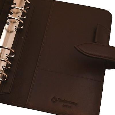 Compact 1 Rings New Brown Unstructured Leather Franklin Covey Plannerbinder