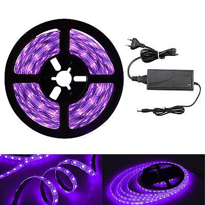 ED Streifen mit Netzteil UV LED Strip 300 LEDs Lichtband 12V (Weihnachten Schwarz Lichter)