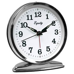 Equity La Crosse Wind-up Loud Bell Alarm Clock Quartz Movement Metal Case