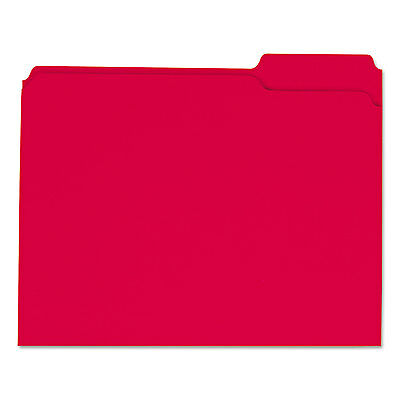 UNIVERSAL Colored File Folders 1/3 Cut Assorted Two-Ply Top Tab Letter Red - Red File Folders