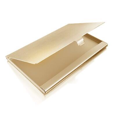 Minimalist Chic Champagne Gold aluminum business card holder
