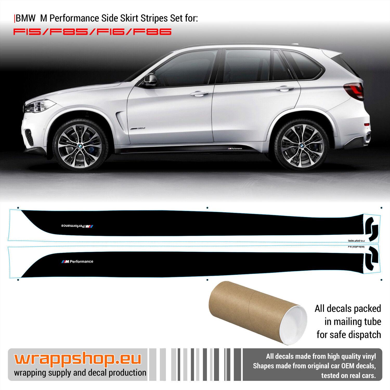 BMW Performance 2x side stripes vinyl decals sticker bmw 1 3 5 7 series x4 x5 x6