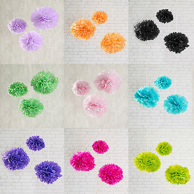 3-30x Pompoms Party Dekoration Hochzeit Deko Pompon Papier Blume Ostern Deko