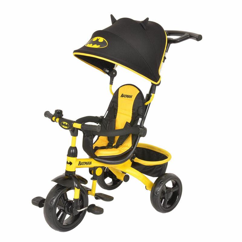 Kids Embrace 4 in 1 Push & Pedal Convertible 3 Wheel Batman Trike & Stroller