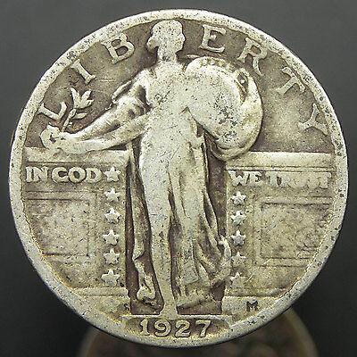 1925-1930 U.S. Standing Liberty Quarter, Fine Condition - originalskincoins