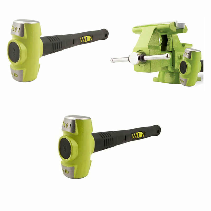 Wilton Bash 6.5 Inch Vise And 12 Inch Hammer + 4 Pound 12 Inch Sledge Hammer