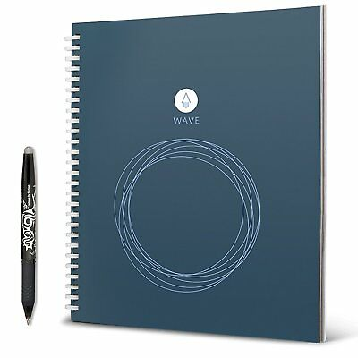 Rocketbook Wave Smart Notebook Standard Size 8.5 X 9.5 Pilot Frixion Pen