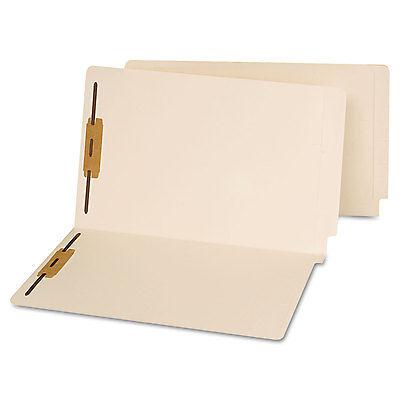 Universal End Tab Folders Two Fasteners Legal Manila 50box 13220