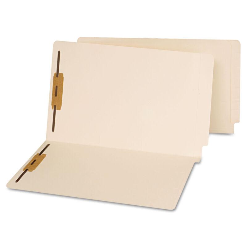 UNIVERSAL End Tab Folders Two Fasteners Legal Manila 50/Box 13220