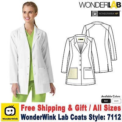 WonderWink Scrub HP Women's Fashion 32 Inch Jacket with Zip Pocket Lab Coat_7112