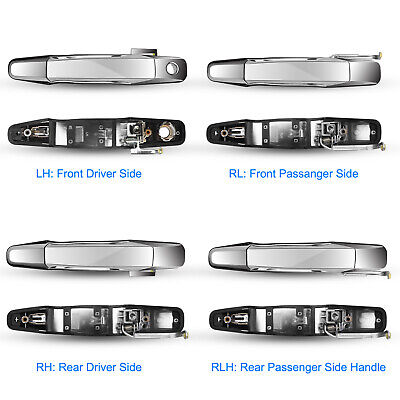 US 4pcs Chrome Outside Door Car Handles Front Rear for Chevy GMC Pickup Truck