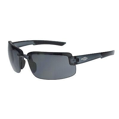 Crossfire By Radians 440401 Es6 Safety Glasses Hd Smoke Lens W Black Frames
