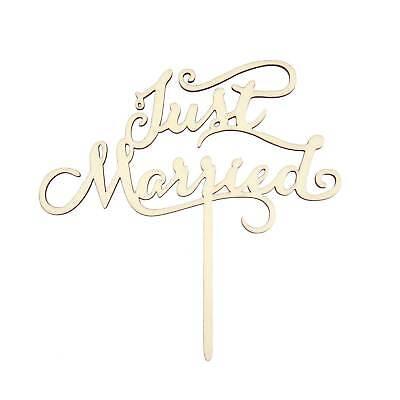 Aufsatz - Just Married - Holz Dekoration Hochzeit JGA Deko (Kuchen Topper Hochzeit)