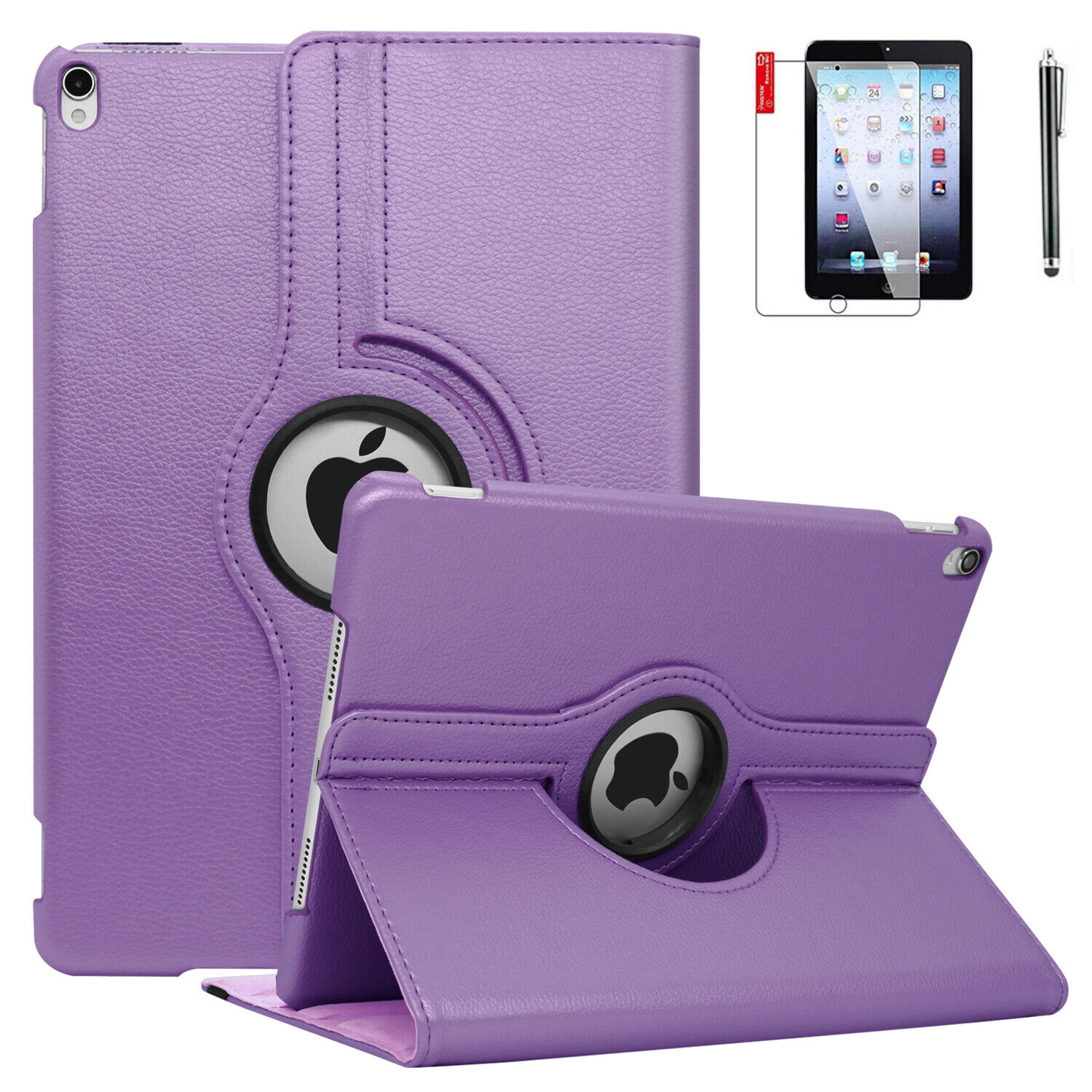 360 Rotating Leather Folio Case Cover Stand For iPad Mini 4t