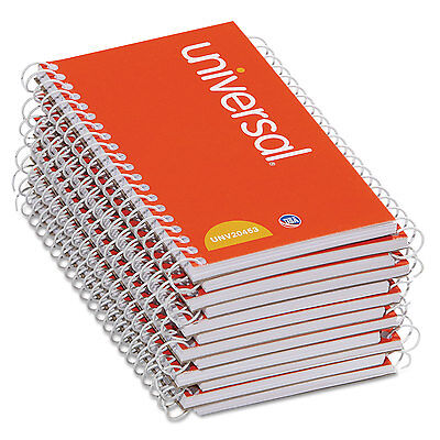 Universal Wirebound Memo Book Narrow Rule 5 X 3 Orange 12 50 Sheet Padspack