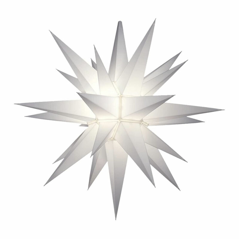 Keystone Holiday Indoor Outdoor 21 Inch Prelit LED Christmas Holiday Star, White