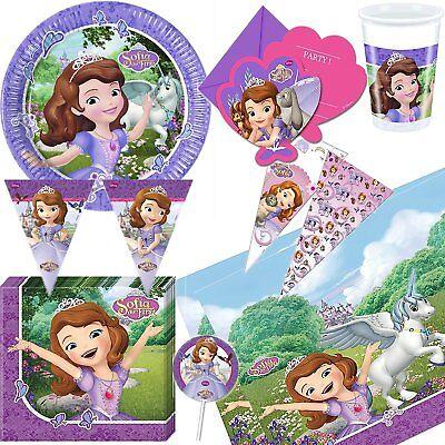 schirr Deko zum Kindergeburtstag Geburtstag Kinder Party Set (Prinzessin Sofia Dekorationen)