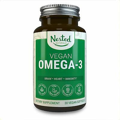 Nested Vegan Omega 3 - Better Than Fish Oil Plant Based Omega-3, From Algae