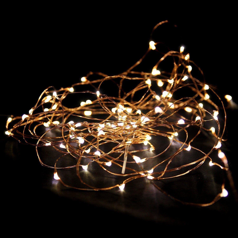 LED Lichterkette Batterie 10//20//30//50 Micro Draht Innen od Außenbereich warmweiß