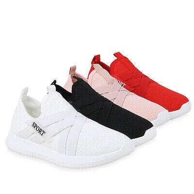 Damen Slippers Slip On Sneaker Sportliche Freizeitschuhe Strick 830919 Trendy