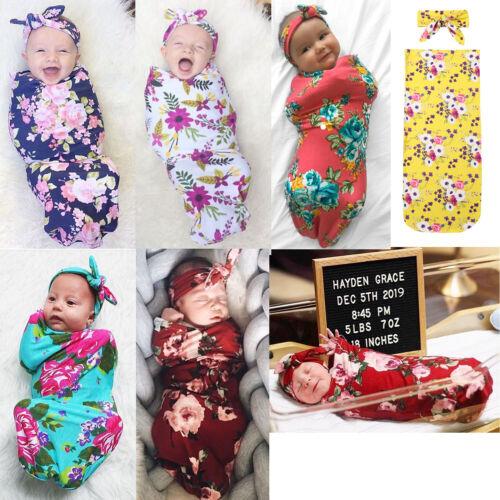 US STOCK Organic Cotton Swaddle Blanket Newborn Baby Wrap Sl