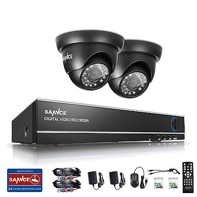 SANNCE 4CH 1080N TVI DVR 1500TVL 720P In/ Outdoor IR Home Security Camera System