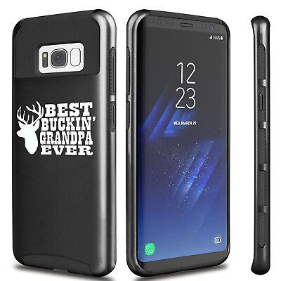 For Samsung S6 S7 Edge S8 + Shockproof Case Best Buckin Grandpa Ever