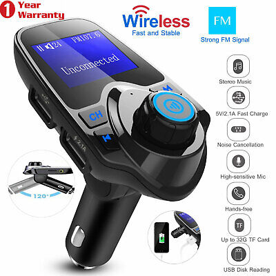 Stock Mp3 - Wireless Car Kit MP3 Player FM Transmitter Radio Adapter 2 USB Charger US Stock