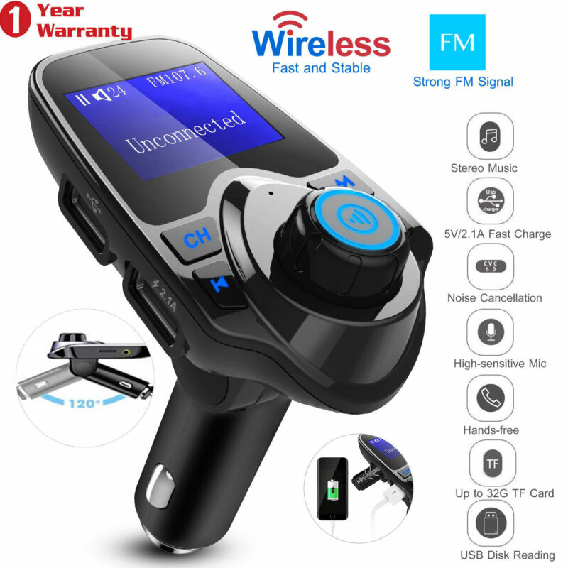 Wireless Car Kit MP3 Player FM Transmitter Radio Adapter 2 USB Charger US Stock