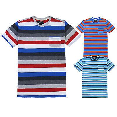 Men's Basic Cotton Comfortable Striped Running Pocket T-shirt Tee S M L XL