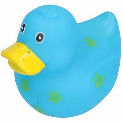 Blue Star Rubber Vinyl Squeaky Duck Dog Toy With Internal Squeak 8x10cm ()