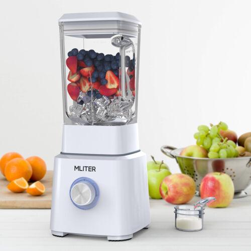 1.6L 800 W Glas Edelstahl Standmixer Ice Crusher Smoothie Maker Blender Mixer DE
