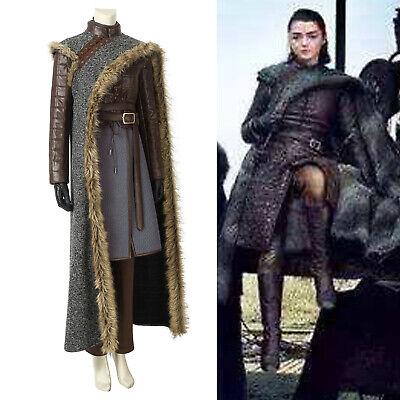 Game of Thrones Season 8 Arya Stark Cosplay Rock Outfits Cosplay Kostüm Karneval