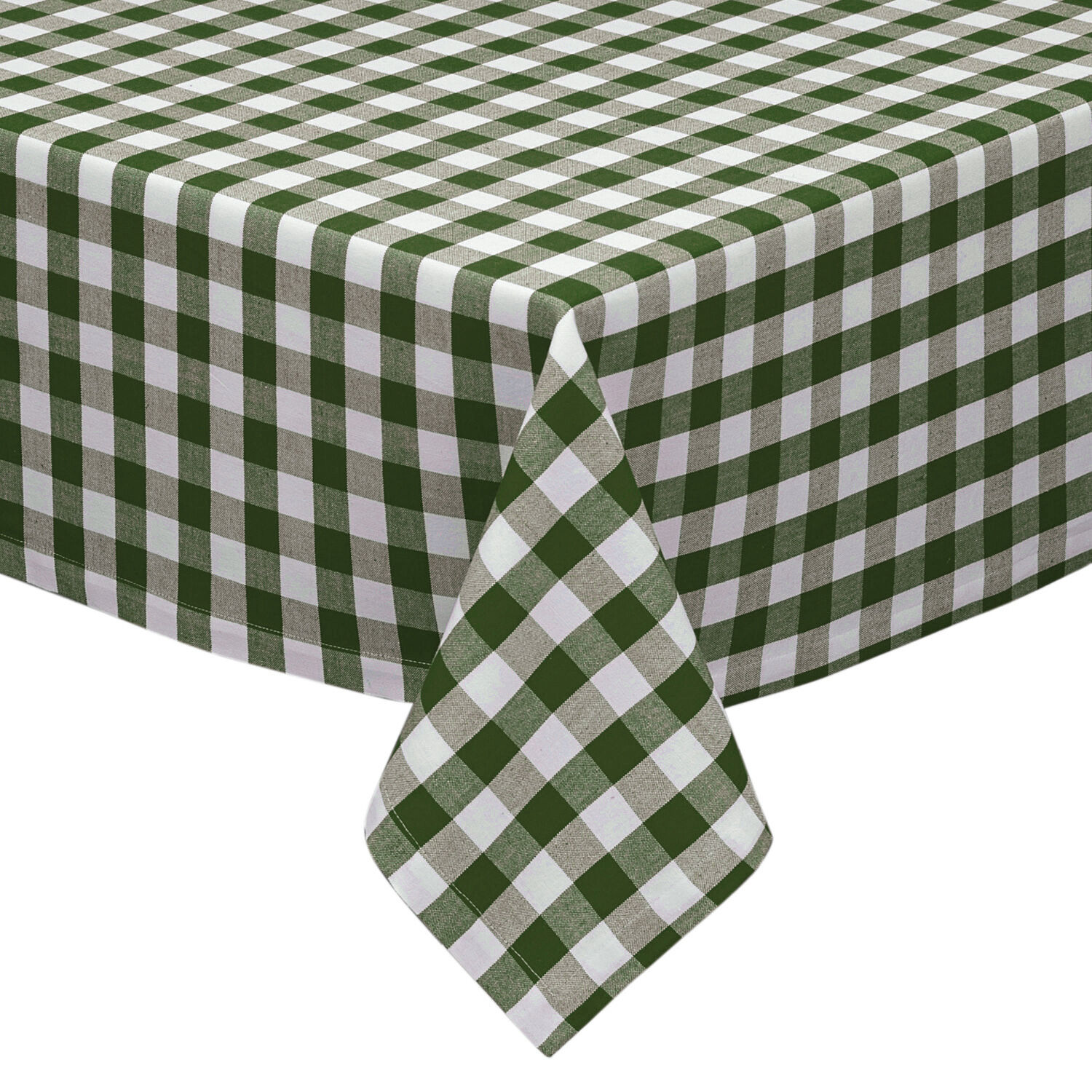 sage and white cotton rich checkered kitchen