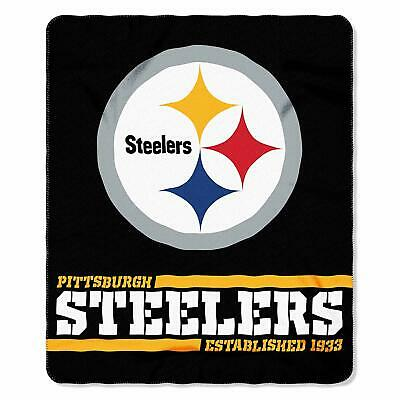 New NFL Pittsburgh Steelers Helmet Logo Soft Fleece Throw Blanket 50
