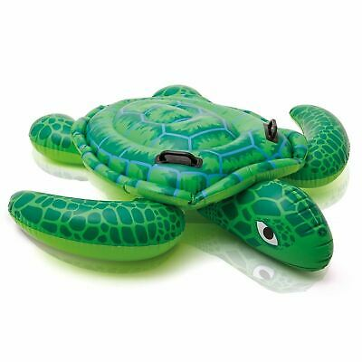 INFLATABLE Sea Turtle Summer Play Float Swimming Pool Toy Stable Ride On New - Inflatable Toys