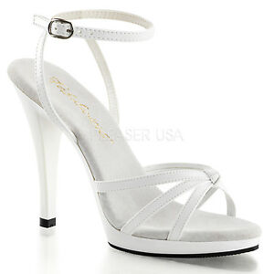 Womens Sexy High Heels Strappy Ankle Wrap Sandals PLEASER FLAIR-436 SZ 5 to16