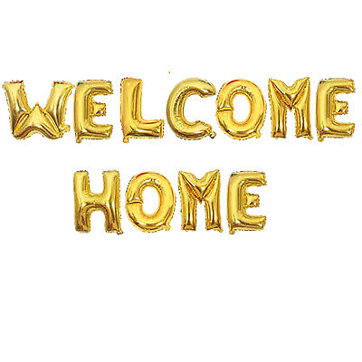 """16"""" Welcome Home Banner Balloons, Welcome Military, Baby Arrival](Welcome Home Baby Banner)"""
